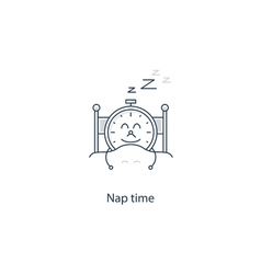 Time to sleep night dreaming vector image