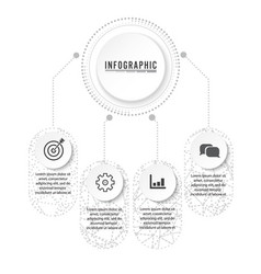 Timeline infographics design and marketing icons vector