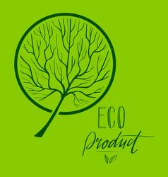 Tree hand drawn eco 2 vector