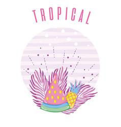 Tropical card concept design vector