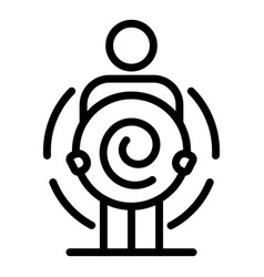 Twirl hypnosis icon outline style vector