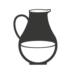 vase of milk isolated icon design vector image