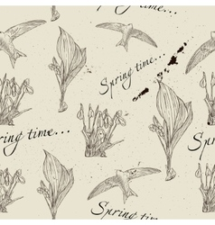 Vintage seamless texture about spring vector image