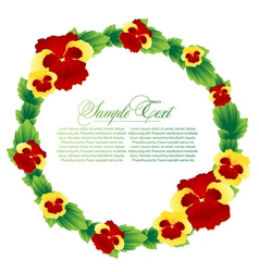 With flower frame vector