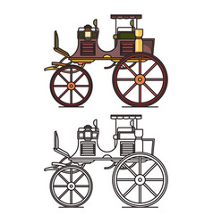 xix century vehicle or retro carriage buggy vector image