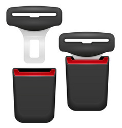 car seat belt for safety in case of accident vector image