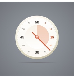 Chronometer icon in EPS10 vector image vector image