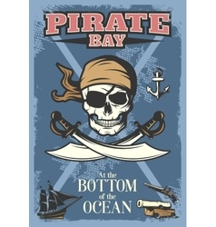 Colored Pirates Poster vector image vector image