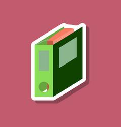 paper sticker on stylish background folder for vector image