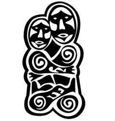 prehistoric art vector image vector image