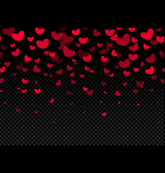seamless hearts border on dark background vector image vector image