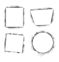 Spray texture frames set isolated on white vector image vector image
