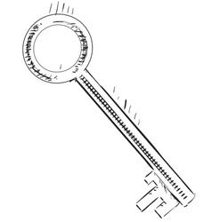 Vintage sketch key vector image vector image