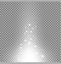 glow sparks effect white color vector image