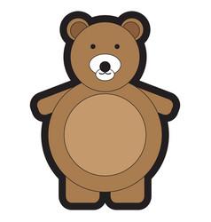 isolated teddy bear vector image vector image