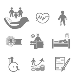 Life and healthy insurance icons collection vector image
