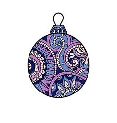 New year Christmas ball vector image vector image