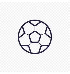 soccer ball simple line icon football game thin vector image vector image