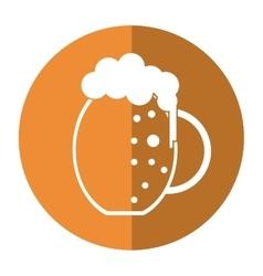 st patrick day jar beer foam cold shadow vector image