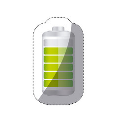 Sticker battery symbol with level indicator charge vector