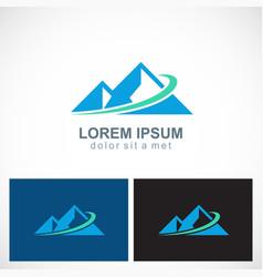 triangle mountain abstract logo vector image vector image