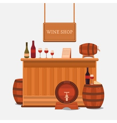 a wine shop vector image vector image
