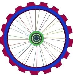 Bicycle wheel isolated on white bike vector image vector image