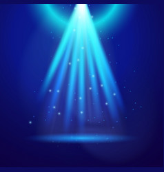 blue shine light vector image