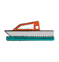 boat on water icon image vector image