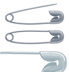 safety pin in vintage engraving style vector image