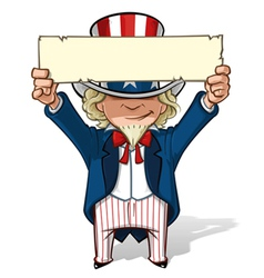 Uncle Sam Holding Up a Sight vector image vector image