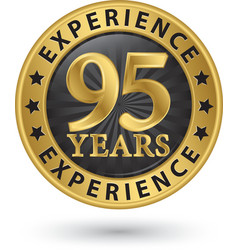95 years experience gold label vector image vector image