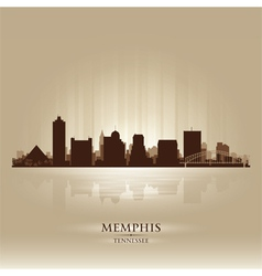 Memphis Tennessee skyline city silhouette vector image
