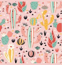 pink desert pattern vector image vector image