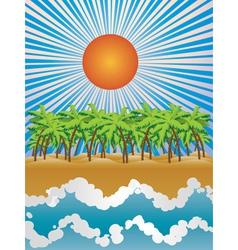 Sunny tropical island vector image vector image