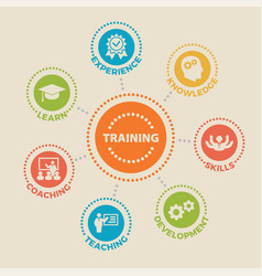 training concept with icons vector image