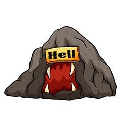 A bat in hell idiom vector