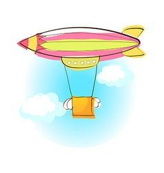 A hot-air balloon in the sky vector