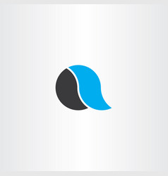 a logo icon letter black cyan symbol vector image
