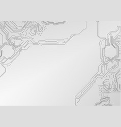 Abstract futuristic circuit board technology vector
