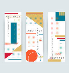 Abstract retro vertical banners with multicolored vector