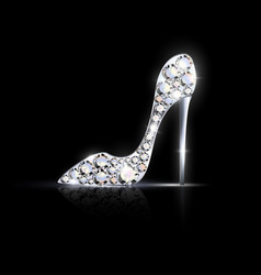 abstract silver jewelry shoe vector image