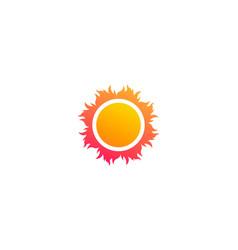 abstract sun beach logo symbol vector image