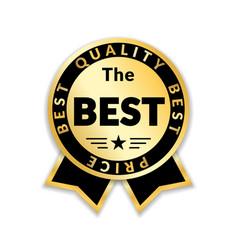 award ribbon the best vector image