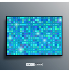 background template with mosaic gradient texture vector image