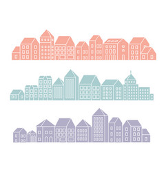 banner city landscape silhouettes vector image