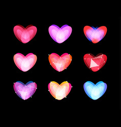 Beauty unusual hearts collection abstract vector