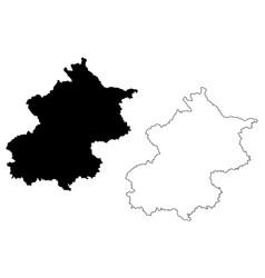 beijing map vector image
