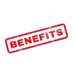 Benefits Text Rubber Stamp vector image