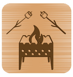 Brazier and zephyr icon vector